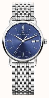 Maurice Lacroix Womens Eliros Stainless Steel Bracelet Blue Dial EL1094-SS002-410-1