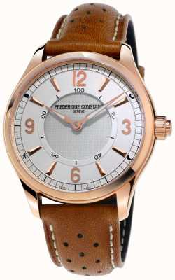 Frederique Constant Mens Horological Smartwatch Bluetooth Brown Leather Strap FC-282AS5B4