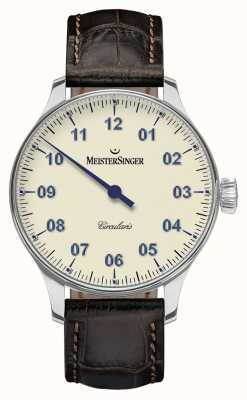 MeisterSinger Mens Circularis Hand Wound Ivory CC303