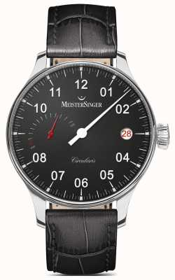 MeisterSinger Mens Circularis Power Reserve Hand Wound Black CCP302
