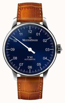 MeisterSinger Mens Classic No. 3 Automatic Sunburst Blue AM908