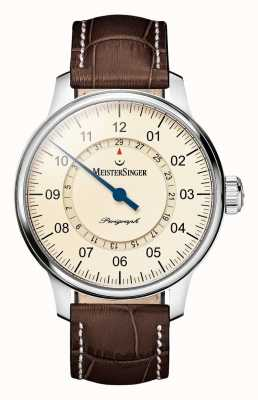 MeisterSinger Mens Classic Pluse Perigraph Automatic Ivory AM1003