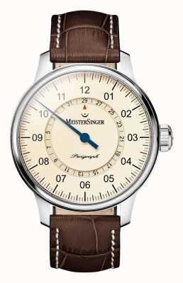 MeisterSinger Men's Classic Plus Perigraph Automatic Ivory AM1003