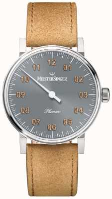 MeisterSinger Mens Form And Style Phanero Handwound Sunburst Anthracite PH307G