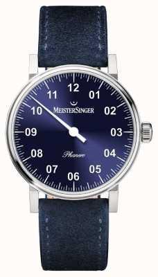 MeisterSinger Mens Form And Style Phanero Handwound Sunburst Blue PH308