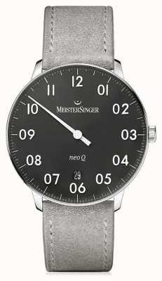 MeisterSinger Mens Form And Style Neo Q Quarz Black NQ902N