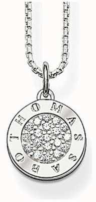 Thomas Sabo Womans Silver Cubic Zirconia Necklace KE1449-051-14-L42V