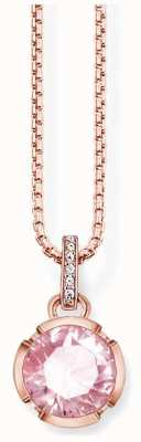 Thomas Sabo Womans Rose Gold Plated CZ Signature Line Necklace KE1423-633-9-L42V
