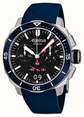 Alpina Mens Seastrong Diver 300 Big Date AL-372LBN4V6