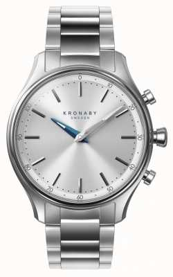 Kronaby 38mm SEKEL Bluetooth Stainless Steel Bracelet Smartwatch A1000-0556