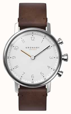 Kronaby 38mm NORD Bluetooth Brown Leather Strap Smartwatch A1000-0711