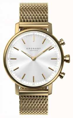 Kronaby 38mm CARAT Bluetooth Gold Mesh Strap A1000-0716 S0716/1