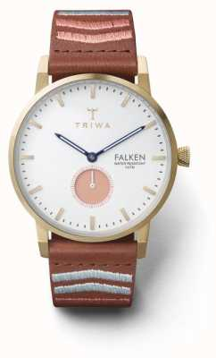 Triwa Unisex Coral Falken Embroidered Brown Classic FAST113-CL070213