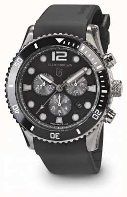 Elliot Brown Mens Bloxworth Black And Grey Black Rubber Strap 929-010-R09