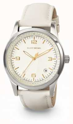 Elliot Brown Womans Kimmeridge Champagne And Ivory Oiled Leather Strap 405-008-L54