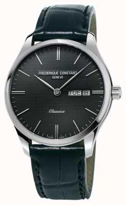 Frederique Constant Mens Classics Index BlackLeather Strap Dark Grey Dial FC-225GT5B6