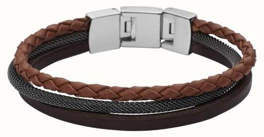 Fossil Mens Casual Triple Layer Bracelet JF02213040