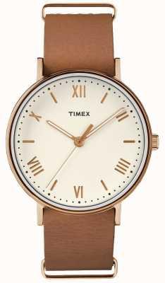 Timex Unisex Southview 41mm Cream Dial Rose Gold Tone Case TW2R28800