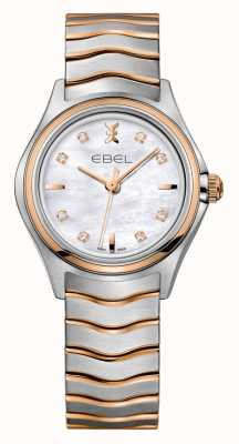 EBEL Wave Womens Diamond Two-Tone rose Gold Watch 1216324