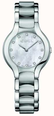 EBEL Womens Beluga Diamond Set Stainless Steel 1216038