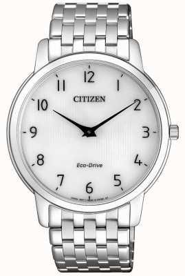 Citizen Men's Stiletto Ultra Thin Stainless Steel White Dial Watch AR1130-81A