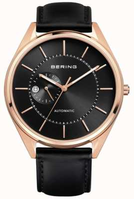 Bering Mens Automatic Black Leather Strap 16243-462