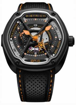 Dietrich Organic Time Black PVD Plated Case Black Strap OT-6