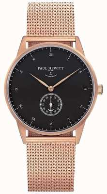 Paul Hewitt Unisex Signature Watch | Stainless Steel Mesh Strap | PH-M1-R-B-4M
