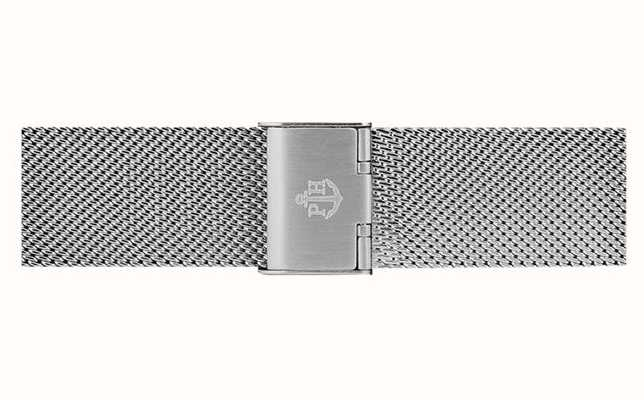 Paul Hewitt Silver Stainless Steel Mesh Bracelet 20mm Wide PH-M1-S-4S