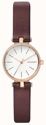 Skagen Womens Signatur Brown Leather Petit Watch SKW2641