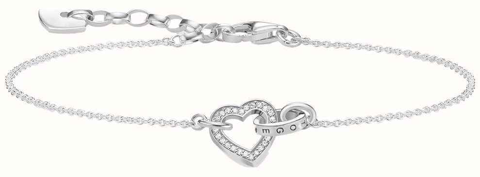 Thomas Sabo Sterling Silver Together Heart Bracelet A1648-051-14-L19V