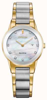 Citizen Womens Axiom Diamond Date Two Tone GA1054-50D
