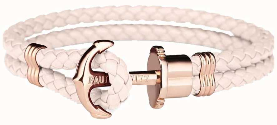 Paul Hewitt Jewellery Phrep Rose Gold Anchor Pink Leather Bracelet Medium PH-PH-L-R-PR-M