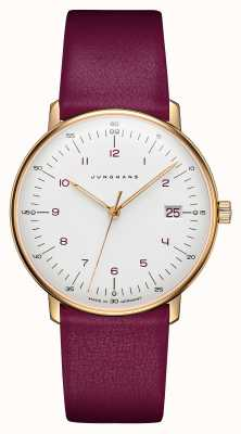 Junghans Max Bill Ladies Quartz | Pink Calf Leather Strap 047/7850.00