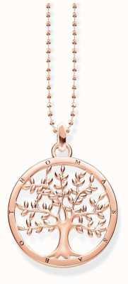 Thomas Sabo Rose Gold Plated Tree Necklace KE1660-415-40-L45V