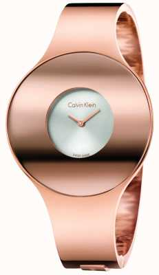 Calvin Klein Womans Rose Gold Tone Seamless Watch Small K8C2S616
