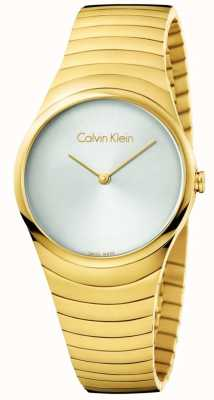 Calvin Klein Womans Gold Tone Stainless Steel Whirl Watch K8A23546