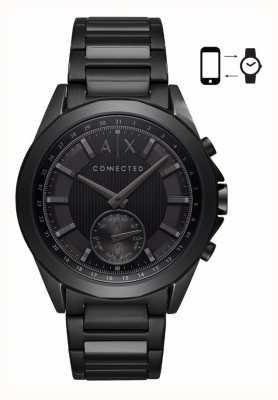 Armani Exchange Mens Hybrid Smartwatch Iron Plated Bracelet Black Dial AXT1007