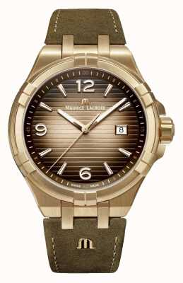 Maurice Lacroix Aikon | Limited Edition | Bronze | Vintage Leather AI1028-BRZ01-720-1