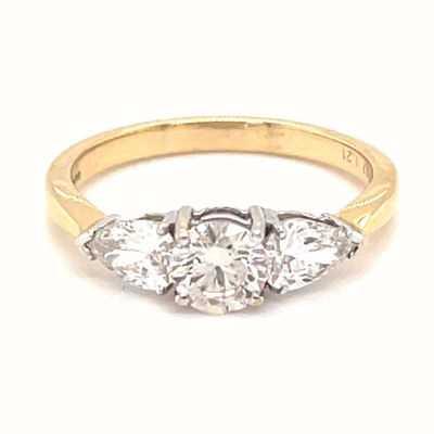 Perfection Diamond 18ct Yellow Gold 1.21ct Diamond 3 Stone Ring M00113