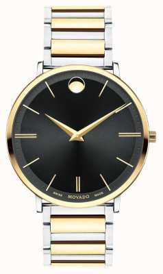 Movado Mens Ultra Slim Two Tone Watch 0607169
