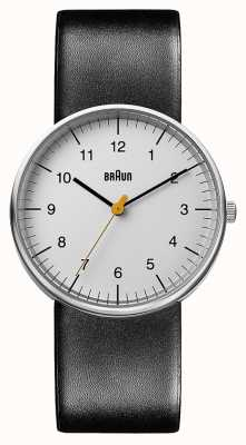 Braun Unisex Black Leather Watch BN0021BKG