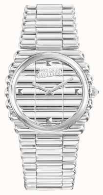 Jean Paul Gaultier Womens Bord Cote Stainless Steel Bracelet Silver Dial JP8504101