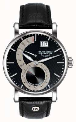 Bruno Sohnle Pesaro II 43mm Black Leather Watch 17-13073-781