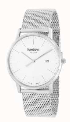 Bruno Sohnle Stuttgart I 42mm Stainless Steel Mesh Watch 17-13175-240