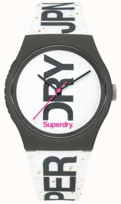 Superdry Unisex White Silicone Watch SYL189WB