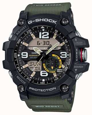 Casio G-Shock Mudmaster Twin Sensor Compass Green Strap GG-1000-1A3ER