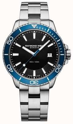 Raymond Weil Tango Blue Bezel Stainless Steel Watch 8260-ST3-20001