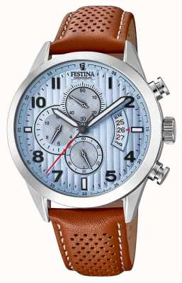 Festina Men's Sports Chronograph Watch Brown Leather Strap F20271/4