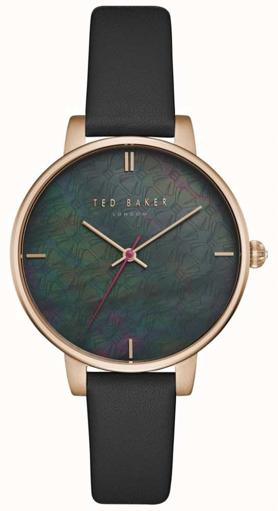 3e3e93251cc Ted Baker Womens Kate Black Mother Of Pearl Dial Rose Gold Case ...
